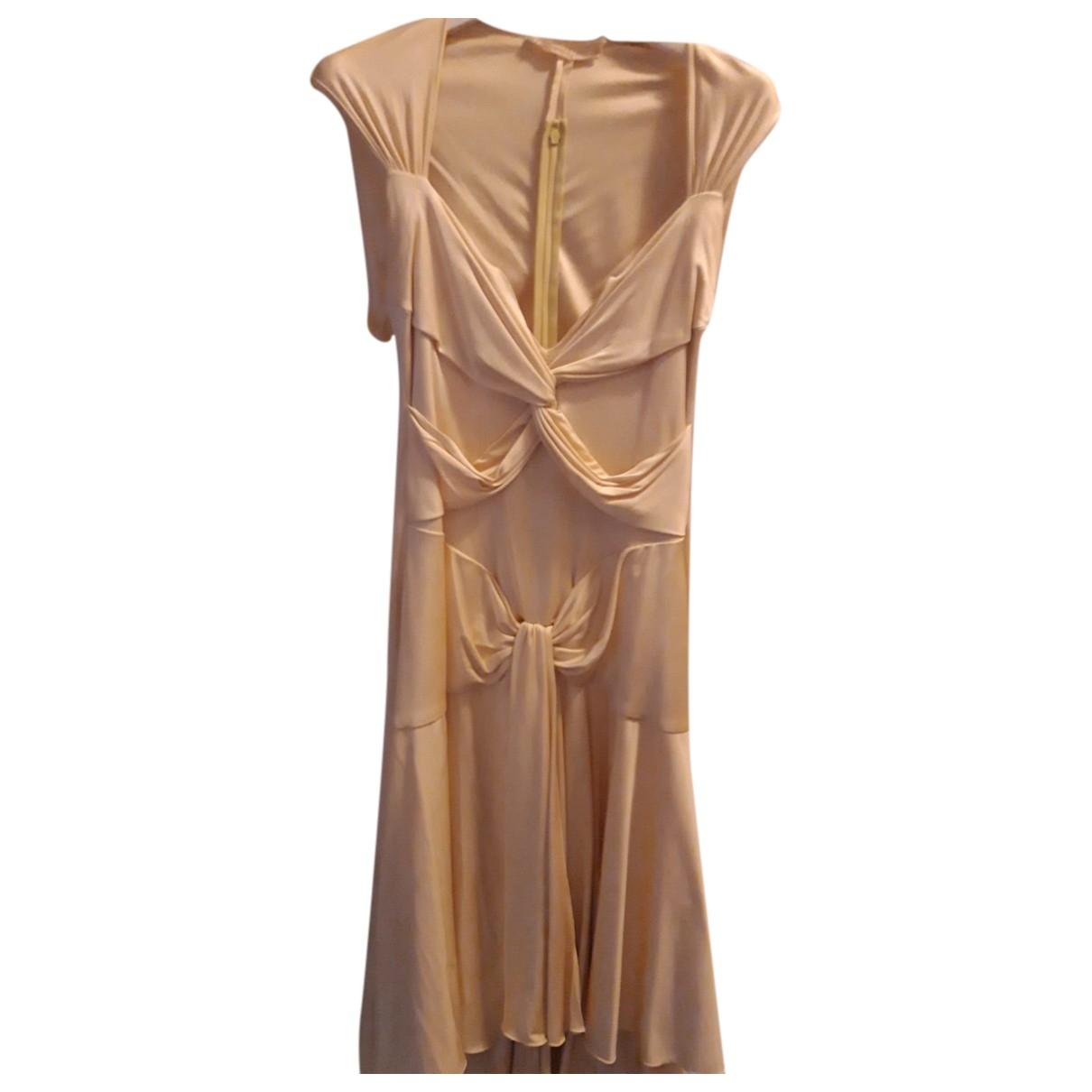 Valentino Garavani \N Yellow Silk dress for Women 42 IT