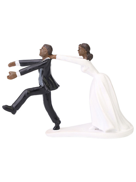 Milanoo Wedding Cake Topper Resin Box Packaging Party Decorations