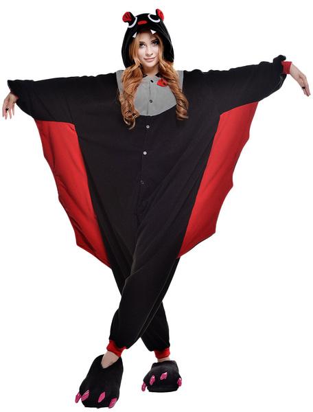Milanoo Kigurumi Pajamas Bat Onesie For Adult Unisex Animal Costume Halloween