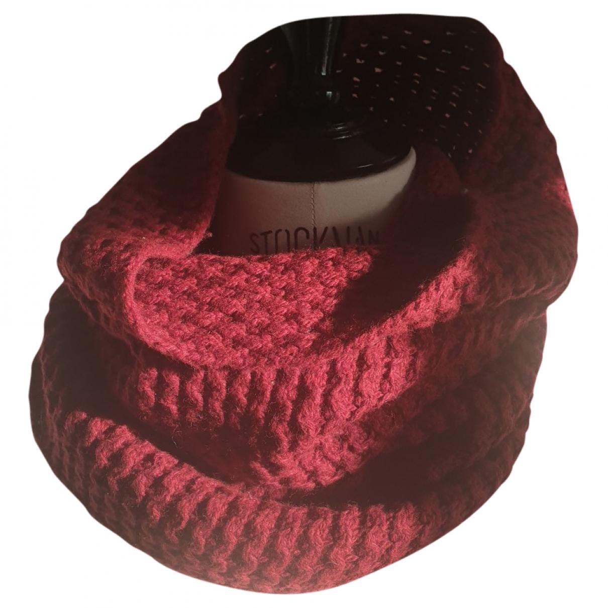 American Vintage \N Schal in  Bordeauxrot Wolle