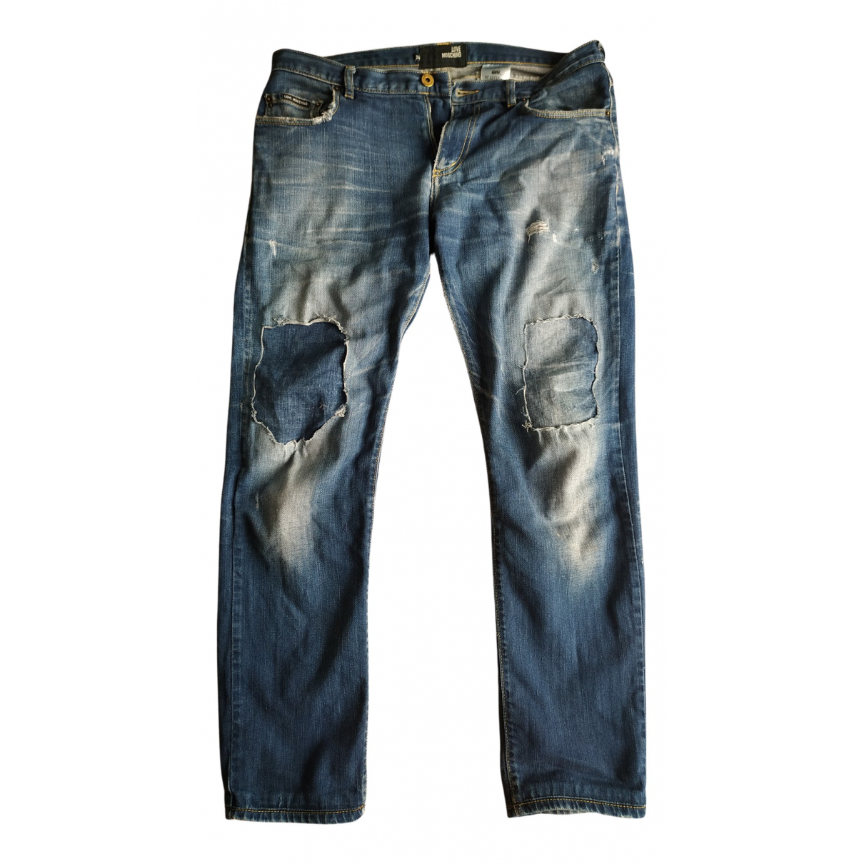 Moschino Love \N Blue Cotton Jeans for Men 34 US