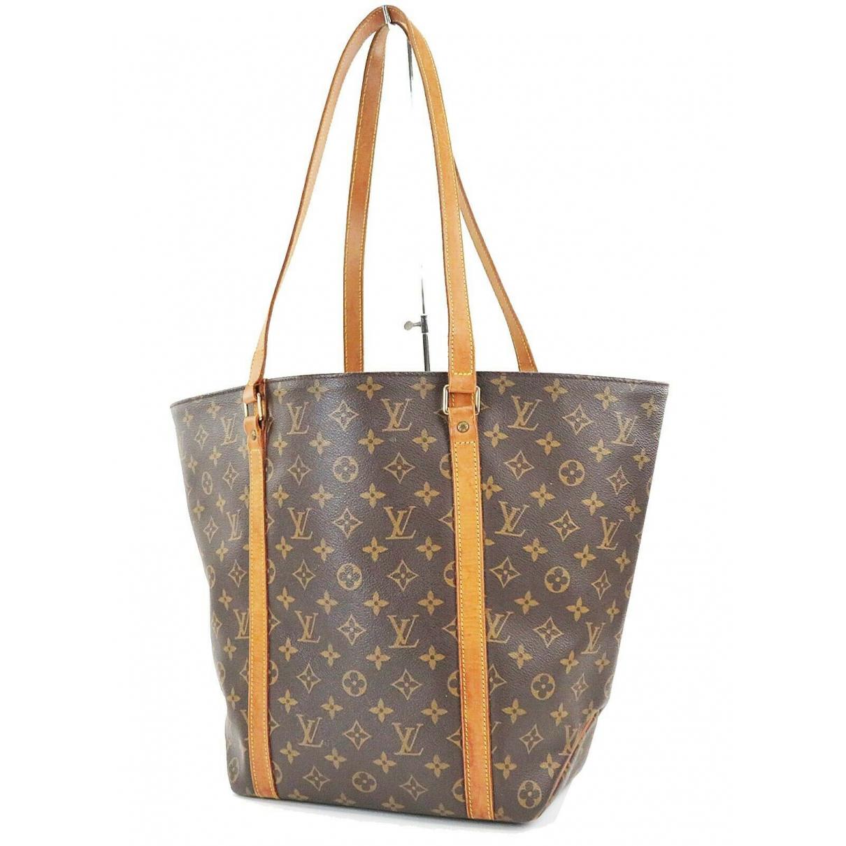 Louis Vuitton Shopping Handtasche in  Braun Leder