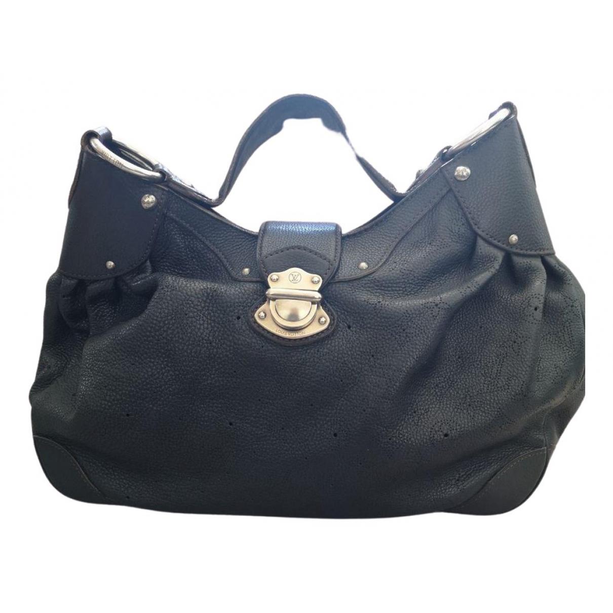 Louis Vuitton - Sac a main Mahina pour femme en cuir - noir