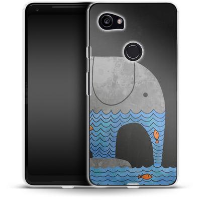 Google Pixel 2 XL Silikon Handyhuelle - Thirsty Elephant von Terry Fan