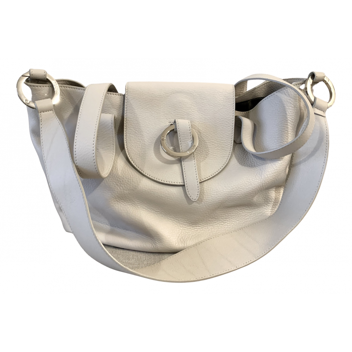Meli Melo \N Handtasche in  Grau Leder