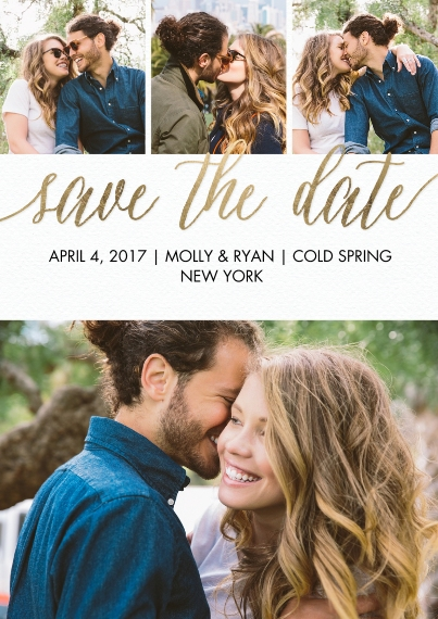 Save the Date 5x7 Cards, Premium Cardstock 120lb with Rounded Corners, Card & Stationery -Save the Date Script