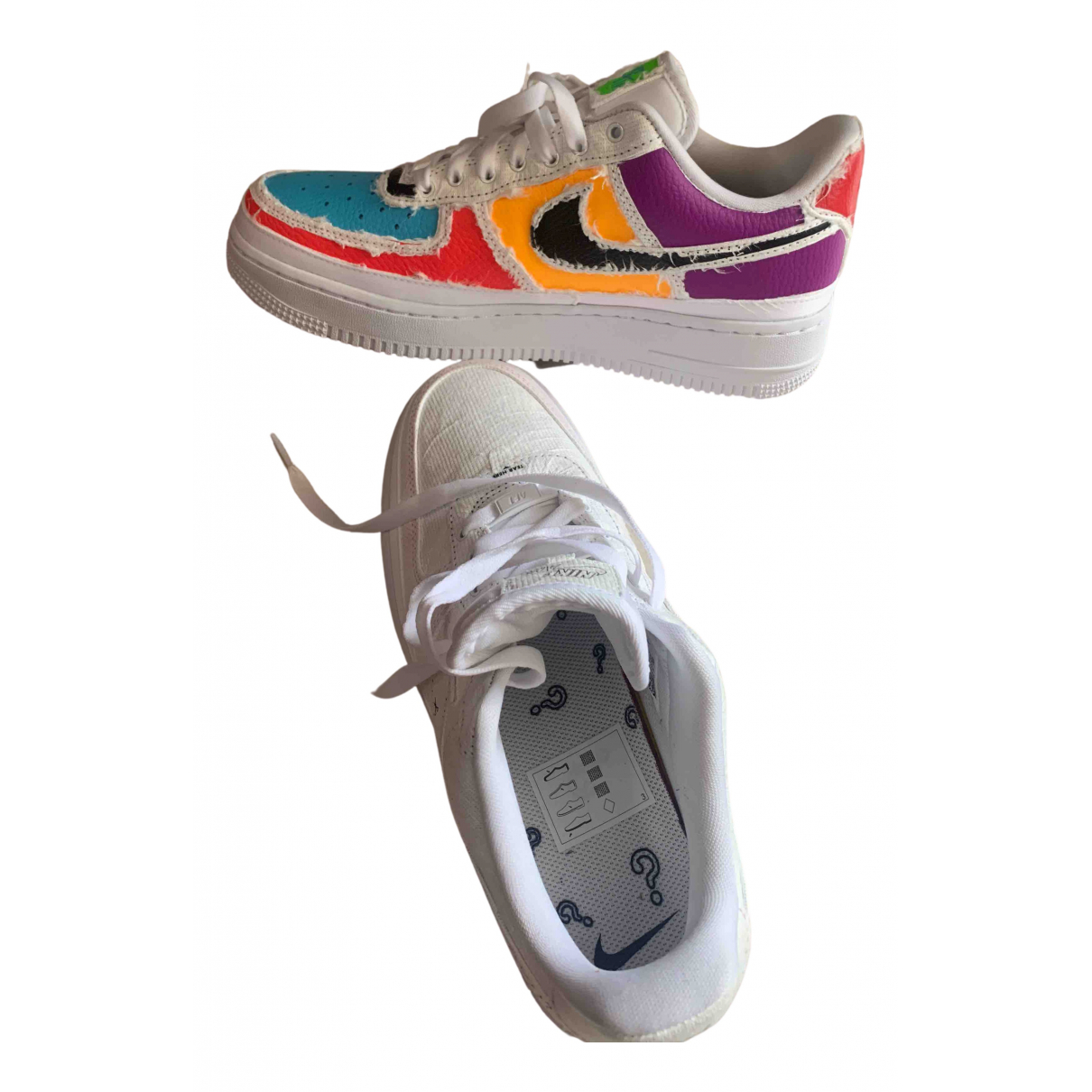 Nike N Multicolour Leather Trainers for Women 39 EU
