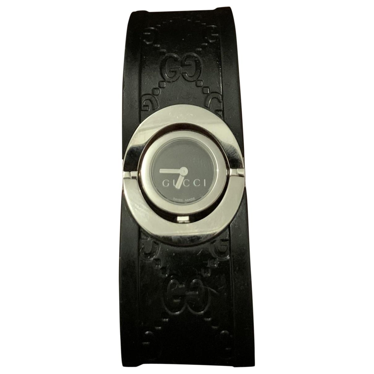 Gucci - Montre Twirl pour femme en acier - noir