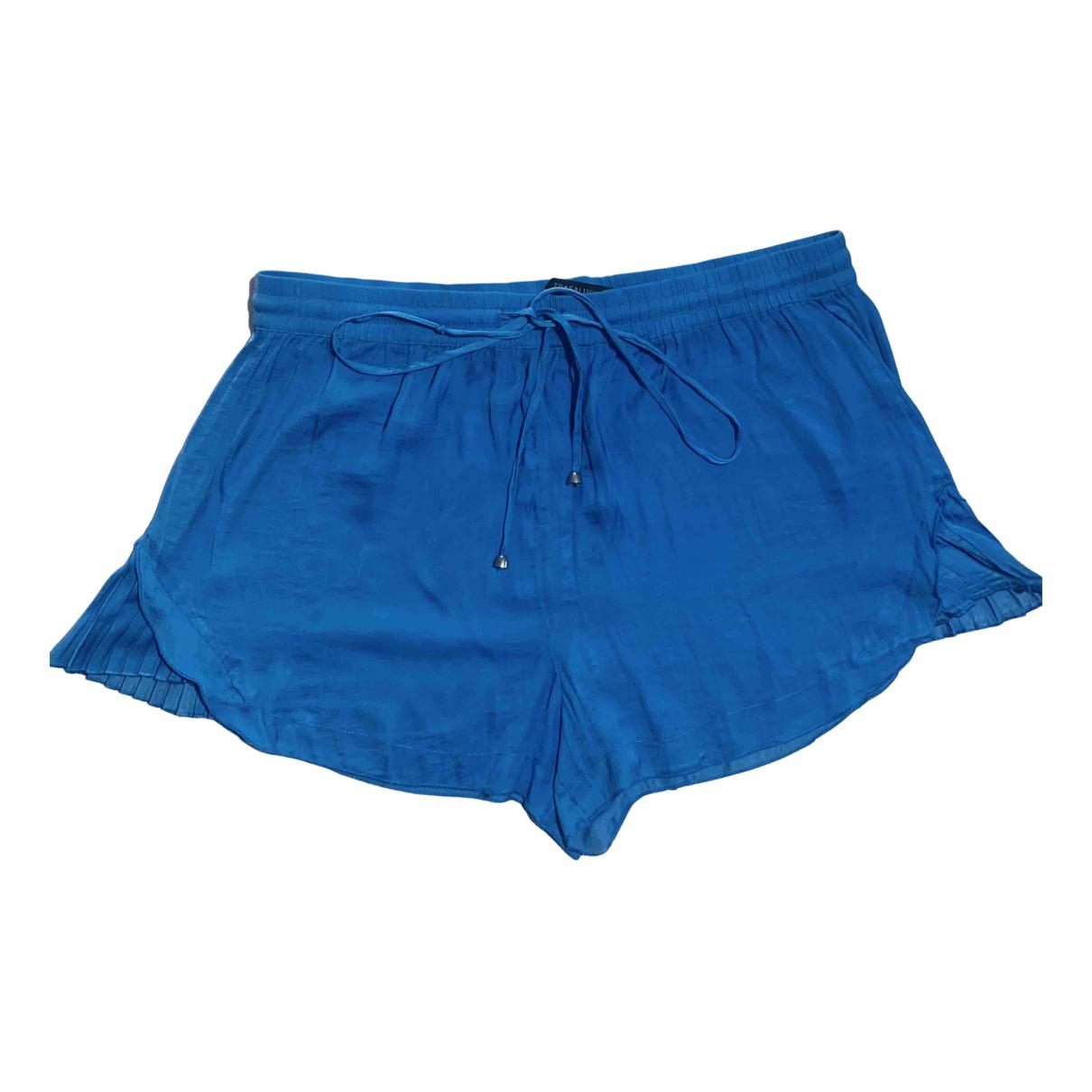 Zara N Blue Silk Shorts for Women L International