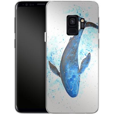 Samsung Galaxy S9 Silikon Handyhuelle - Whale Dive von Becky Starsmore
