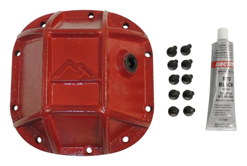 RT Offroad RT20024 Heavy Duty Dana 30 Differential Cover for Jeep Models w/ D30 Axle; Red Jeep Front