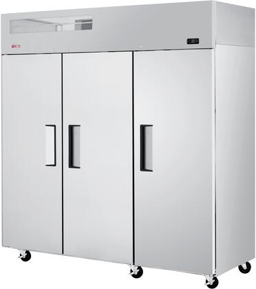 EF72-3-N 78 E-Line Series Solid Door Reach-In Top Mount Freezer with 65.88 cu. ft. Capacity  Hydrocarbon Refrigerants  LED Lighting and High-Density