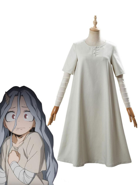 Milanoo My Hero Academia Cosplay Eri Light Gray Dress With Armwear Cosplay Costumes