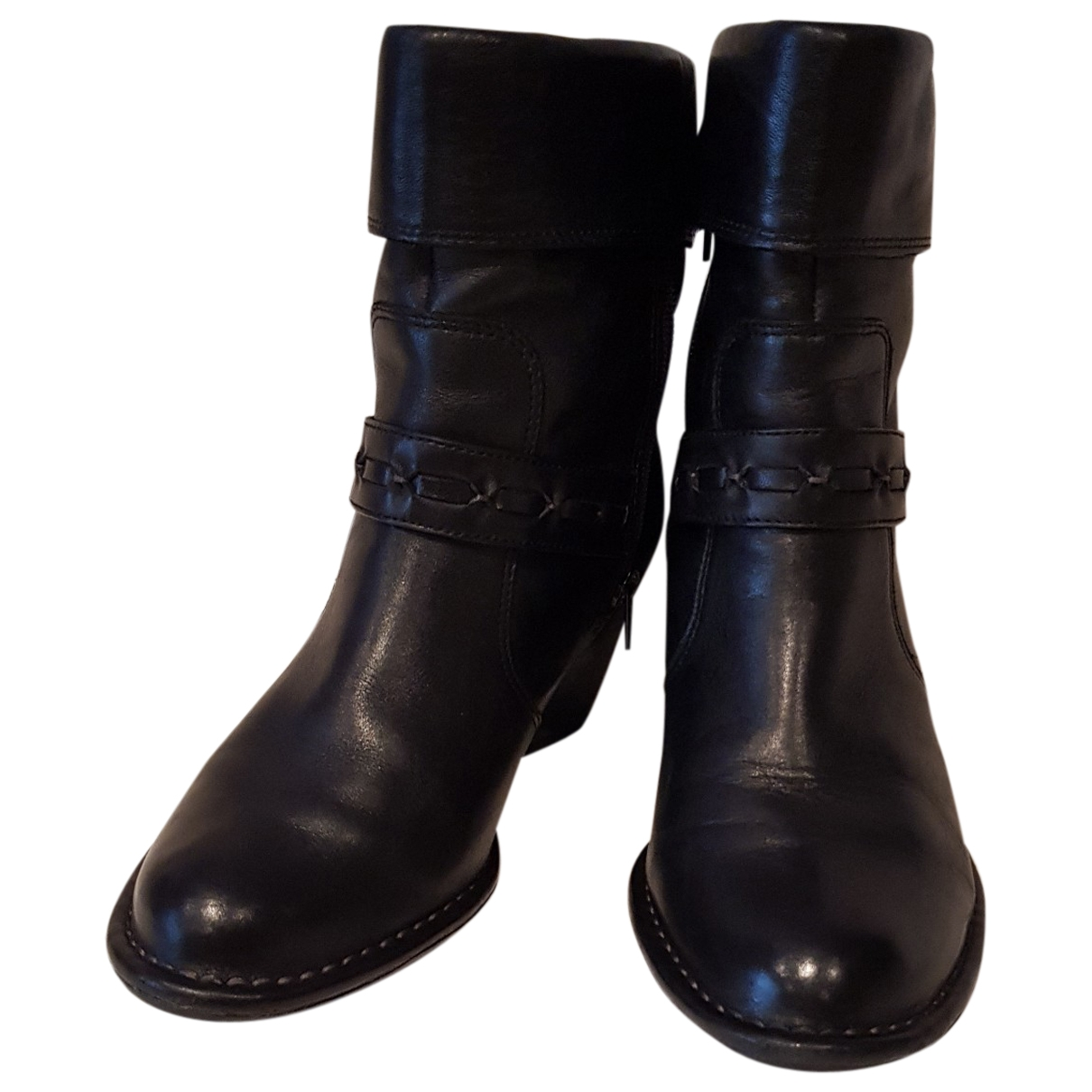 Clarks \N Black Leather Ankle boots for Women 37 EU