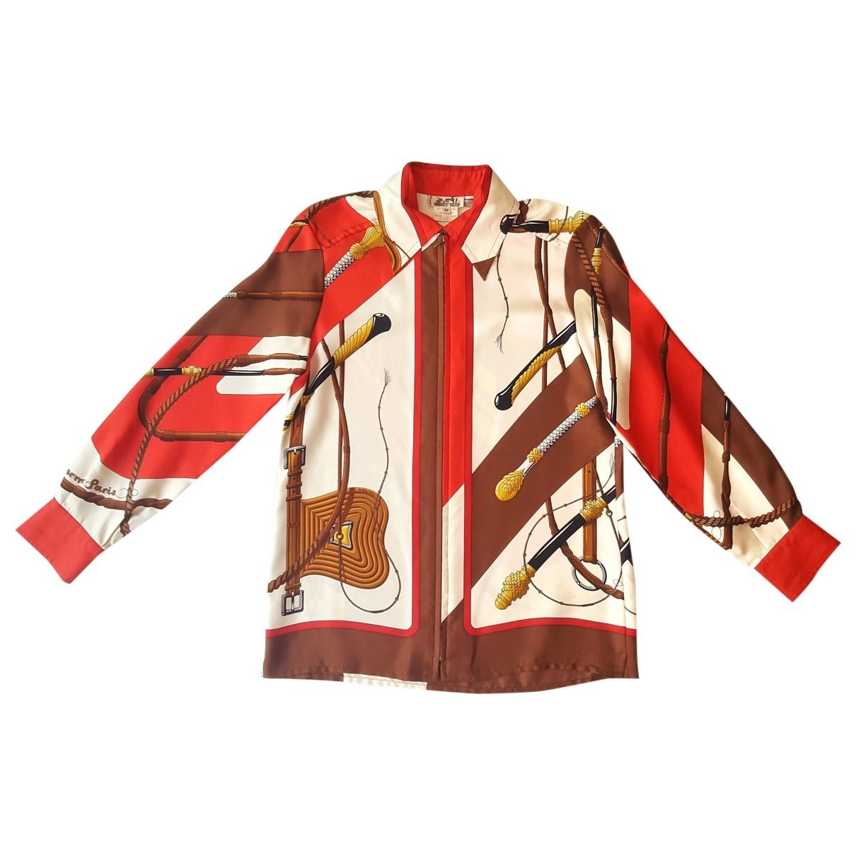 Hermes - Veste   pour femme en soie - rouge