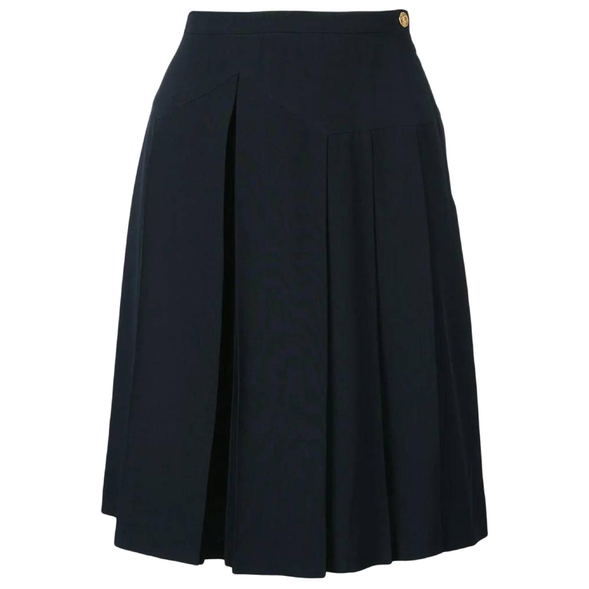 Chanel \N Shorts in  Marine Seide