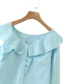 Schulterfreie Bluse mit Rueschen