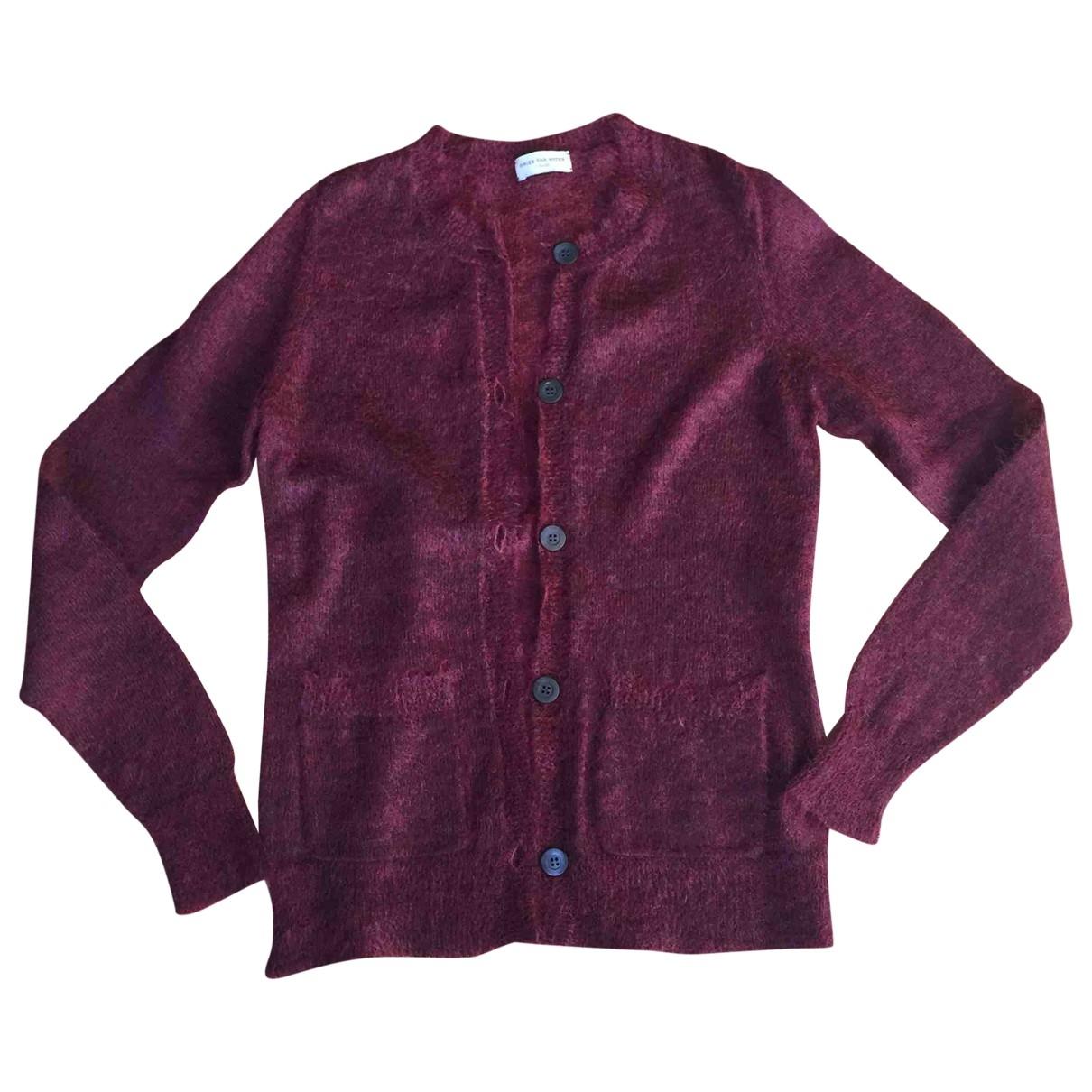 Dries Van Noten - Pull   pour femme en laine - bordeaux