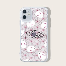 Rabbit & Letter Graphic iPhone Case