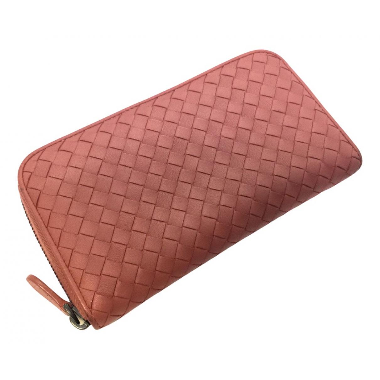 Bottega Veneta Intrecciato Pink Leather wallet for Women N