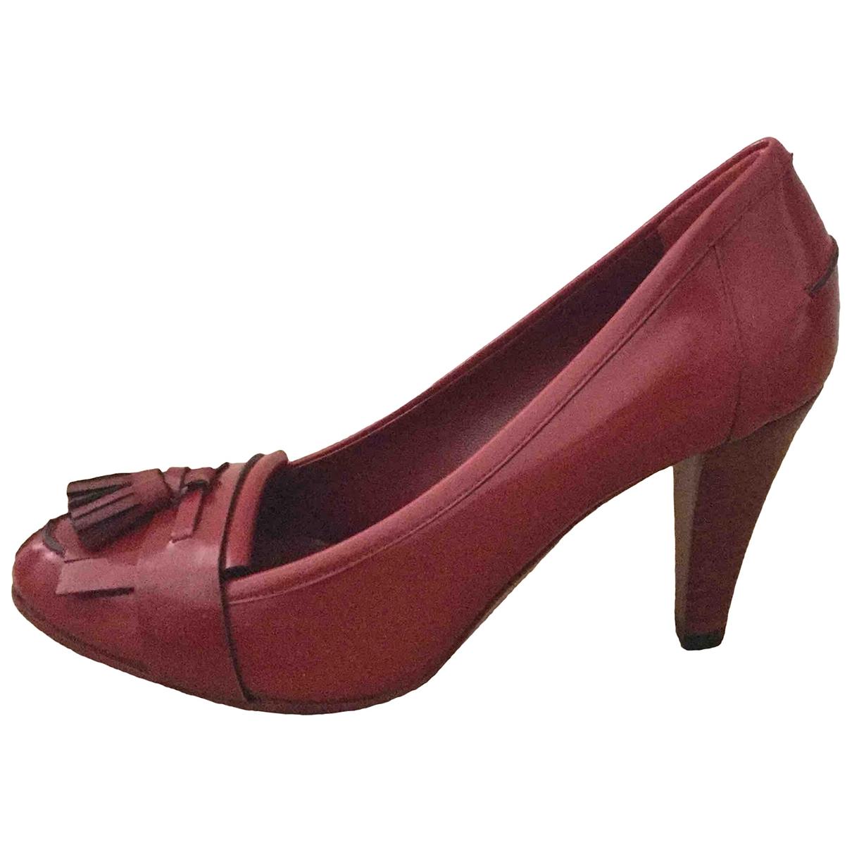 Gucci - Escarpins   pour femme en cuir - rouge