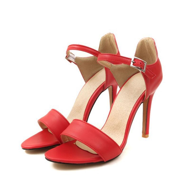 Ericdress Line-Style Buckle Heel Covering Open Toe Casual Sandals