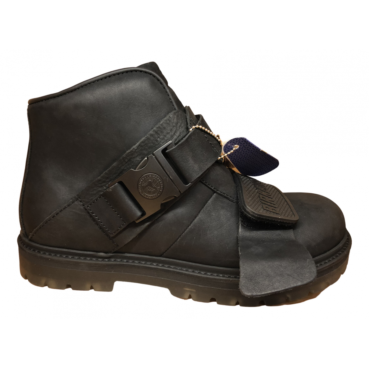 Rick Owens \N Black Leather Boots for Women 37.5 EU