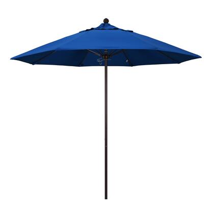 ALTO908117-SA01 9' Venture Series Commercial Patio Umbrella With Bronze Aluminum Pole Fiberglass Ribs Push Lift With Pacifica Pacific Blue