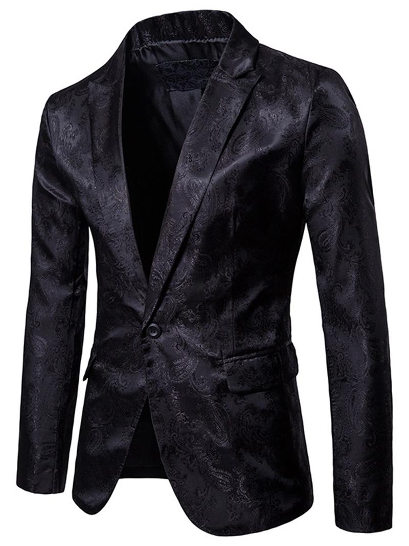 Ericdress Lapel Vogue Print Slim Small Size Men's Tuxedo Blazer