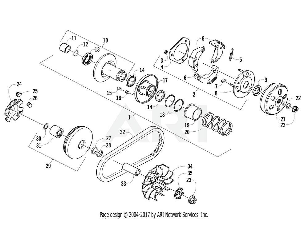 Arctic Cat OEM 3304-976 Face Comp Movable Drive | (Inc. 30 31)