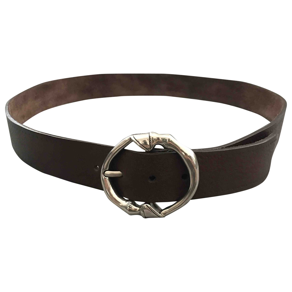 Gucci \N Brown Leather belt for Men 100 cm