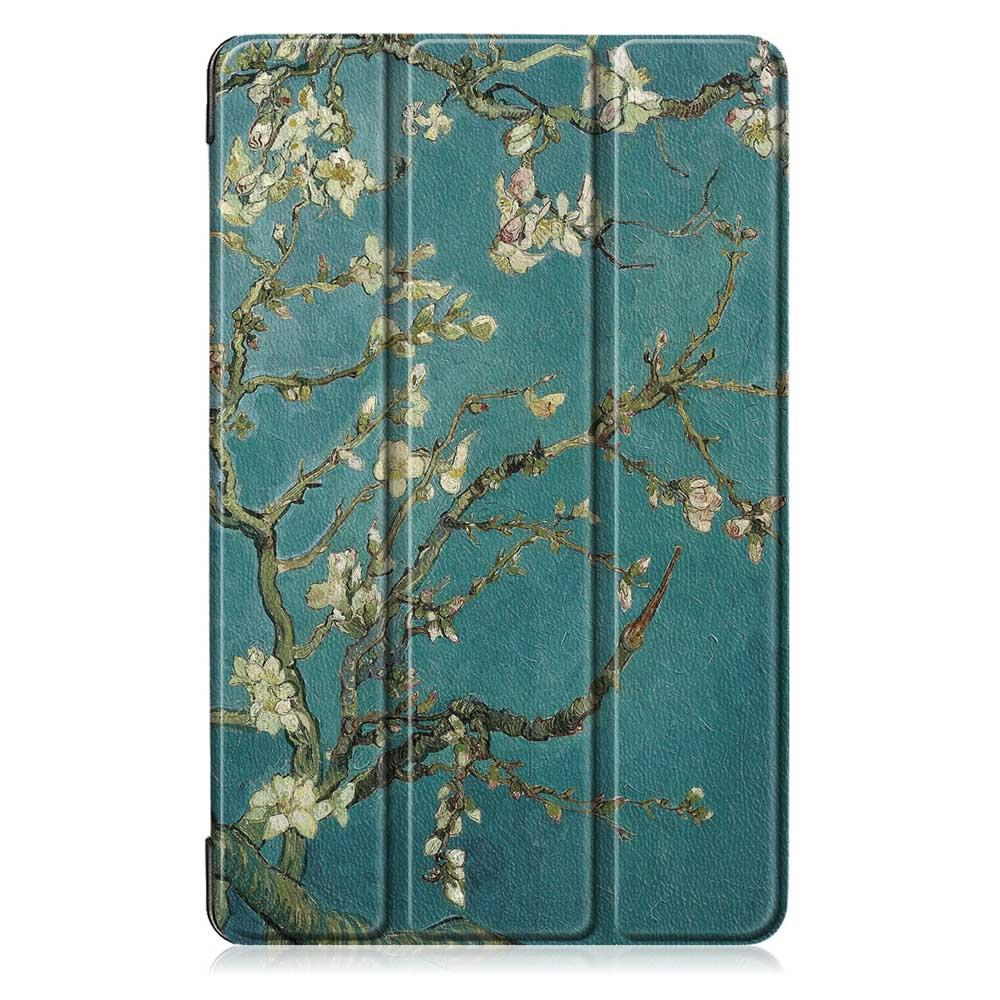 Tri-Fold Pringting Tablet Case Cover for Samsung Galaxy Tab A 10.1 2019 T510 Tablet - Apricot Blossom