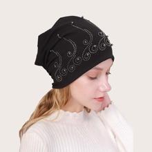 Turban Hut mit Perlen Dekor
