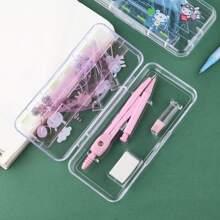 1box Random Color Compass & Ruler Set