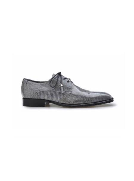 Belvedere Exotic Skin Brand Genuine Gray Lizard Leather Lining Shoe