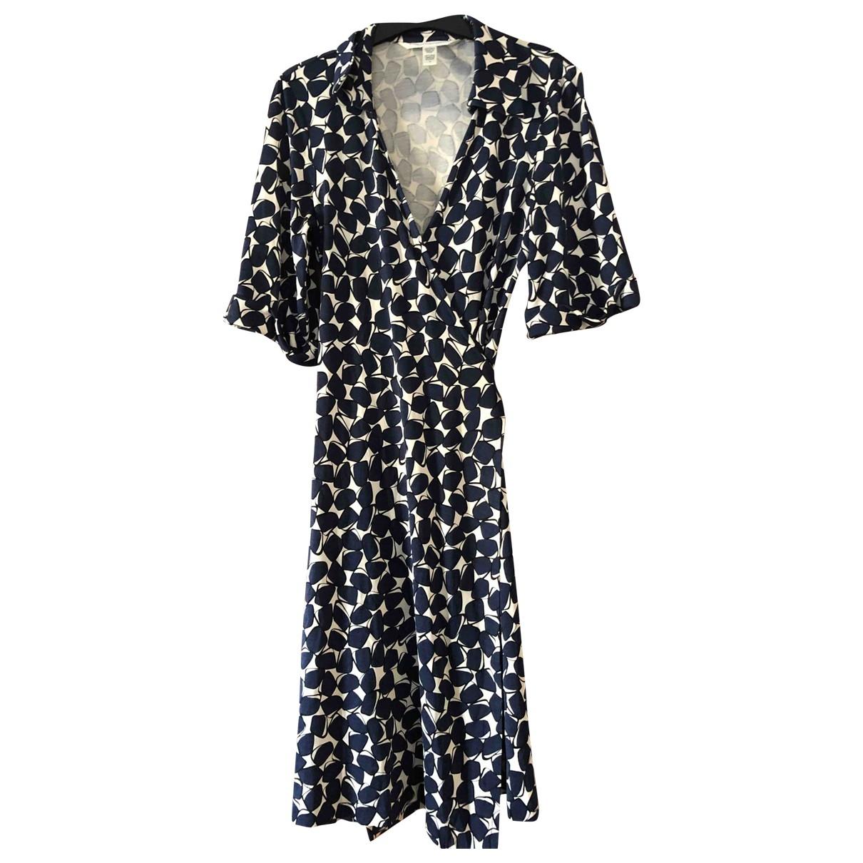Diane Von Furstenberg \N Blue Silk dress for Women 4 UK