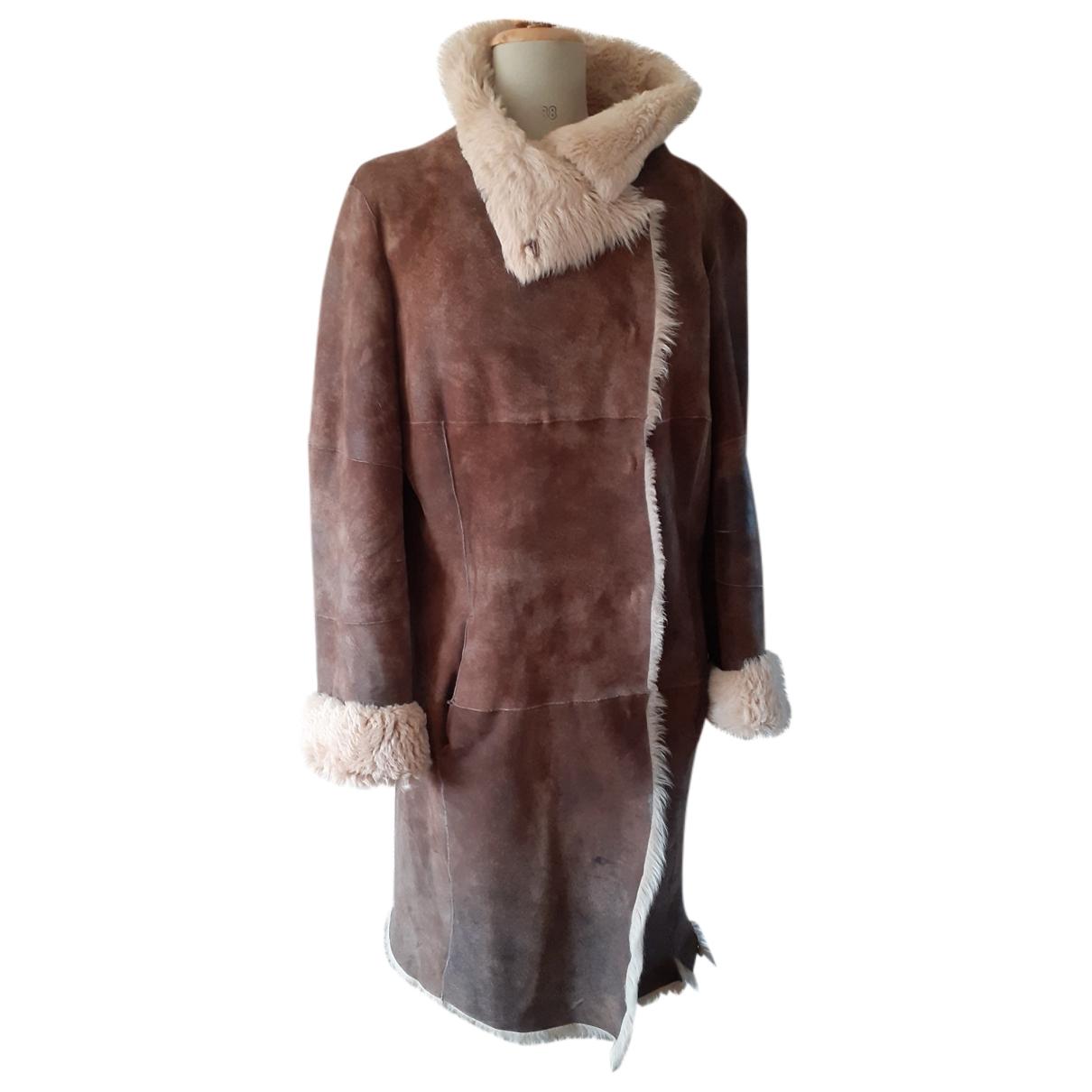 Joseph \N Camel Mongolian Lamb coat for Women 42 FR