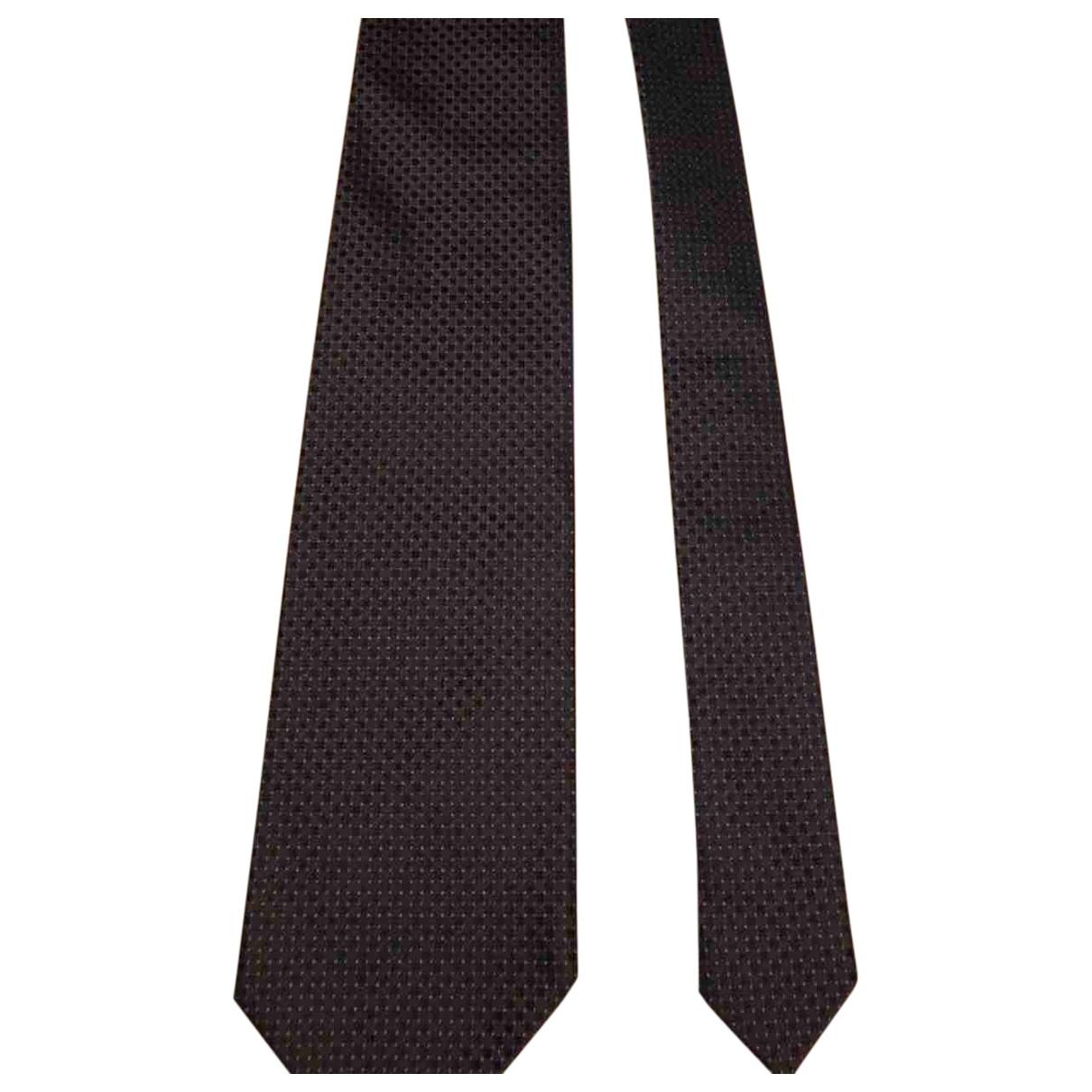 Prada - Cravates   pour homme en soie - marron