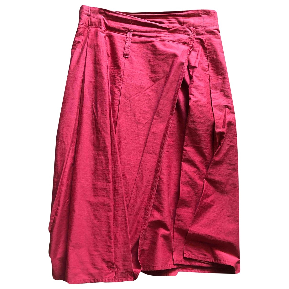 Non Signé / Unsigned \N Red Cotton skirt for Women 42 IT