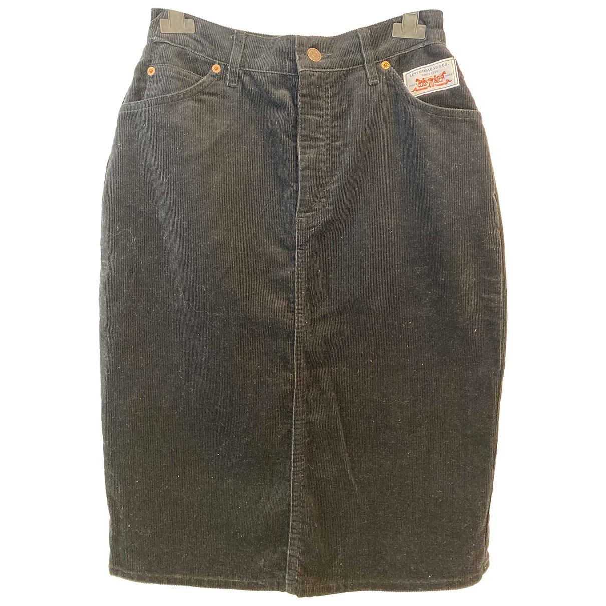 Levis Vintage Clothing - Jupe   pour femme en coton - noir