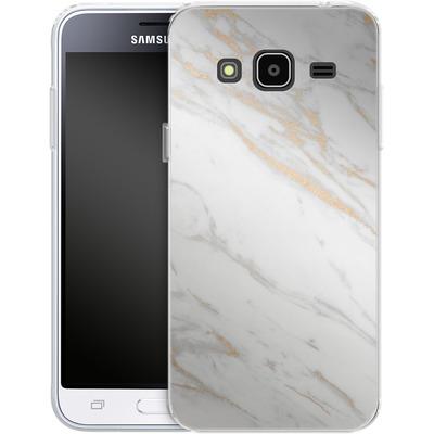 Samsung Galaxy J3 (2016) Silikon Handyhuelle - Gold Marble Elegance von #basic