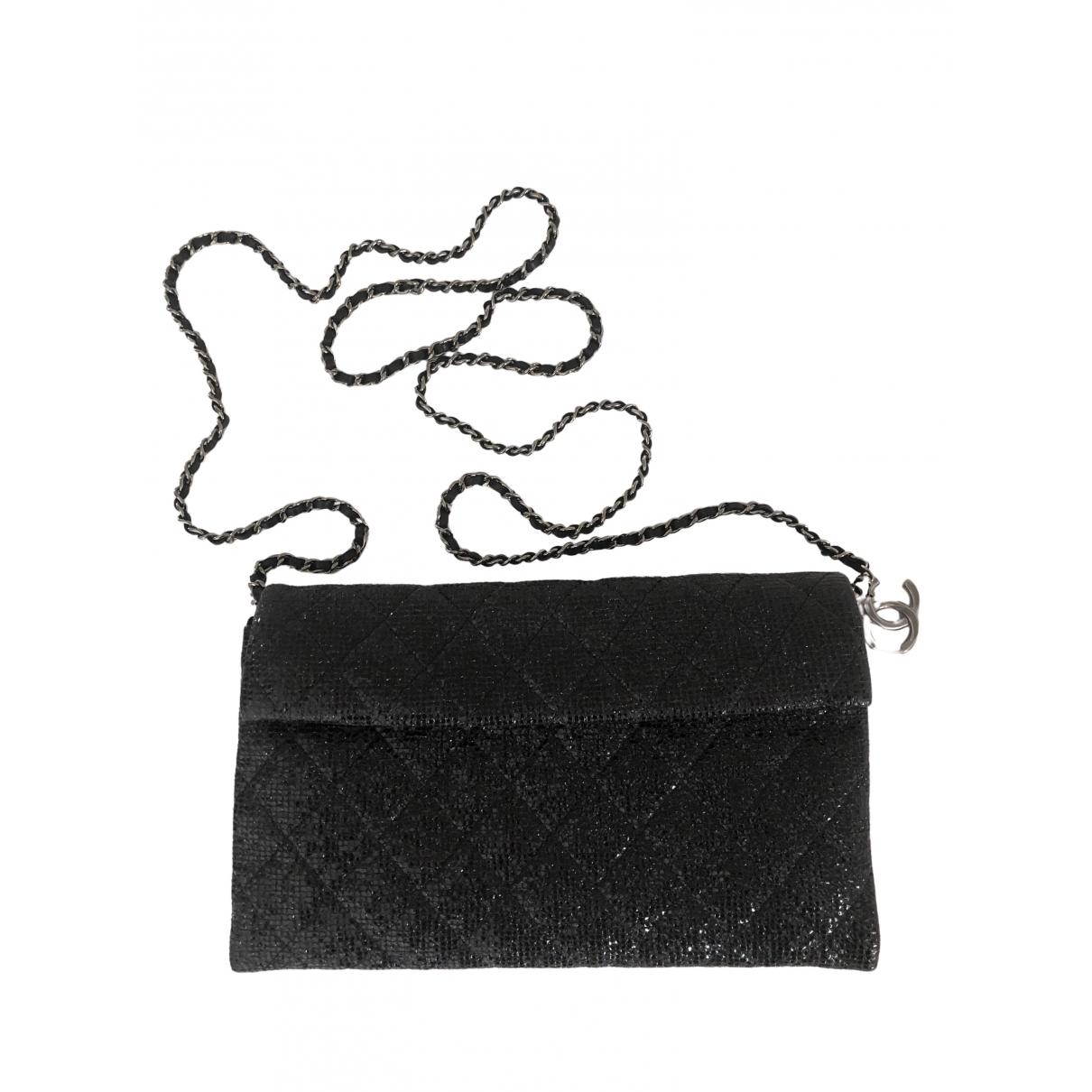 Chanel Wallet on Chain Black Cloth Clutch bag for Women \N