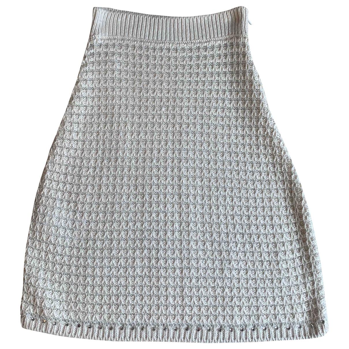 Miu Miu \N Beige Silk skirt for Women 38 IT