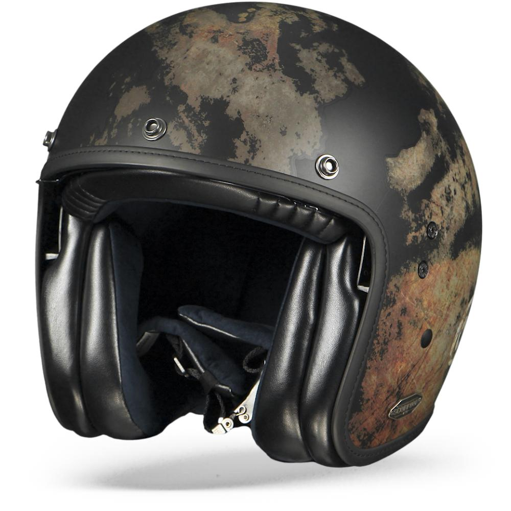 Scorpion Belfast Tempus Casco Jet Negro M