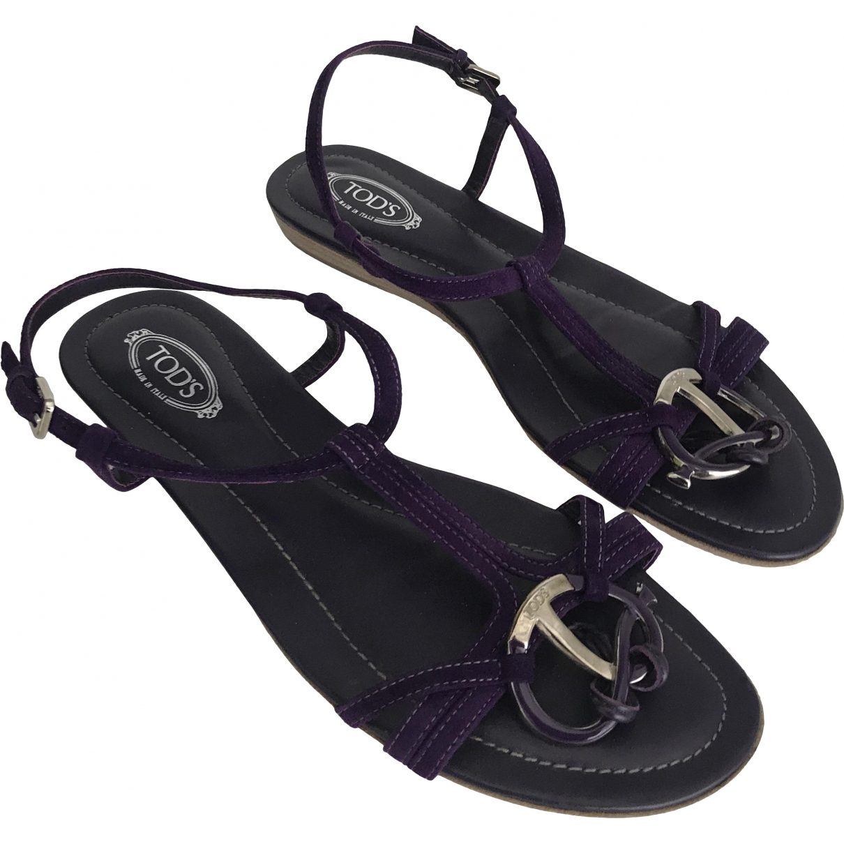 Tod's \N Purple Suede Sandals for Women 39 EU
