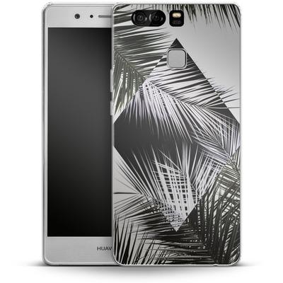 Huawei P9 Silikon Handyhuelle - Palm Leaves 3 Geometry 2 von Mareike Bohmer