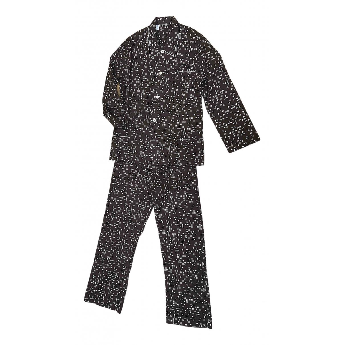 Non Signé / Unsigned \N Brown Cotton Suits for Men L International