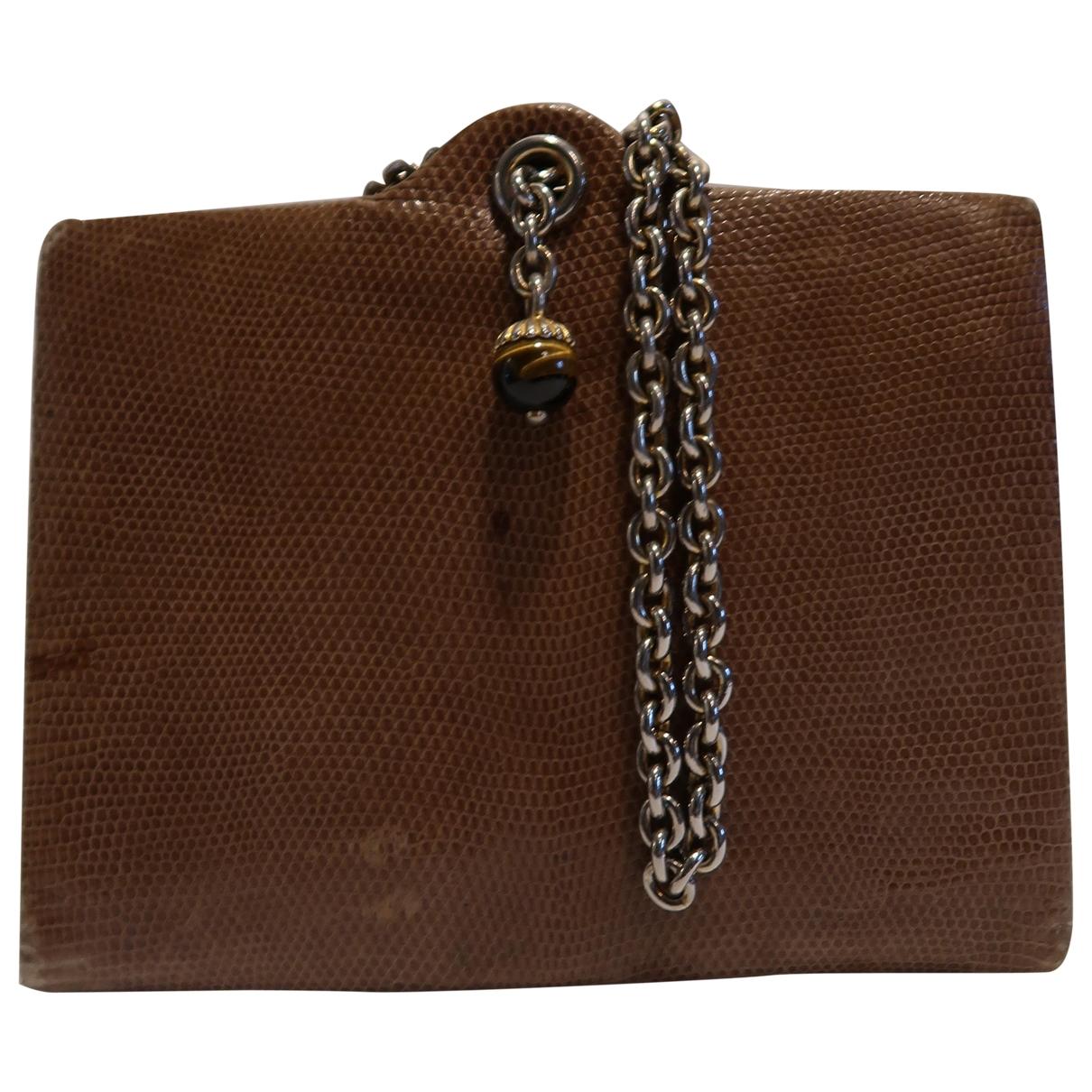 Gucci - Sac a main   pour femme en cuir exotique - beige