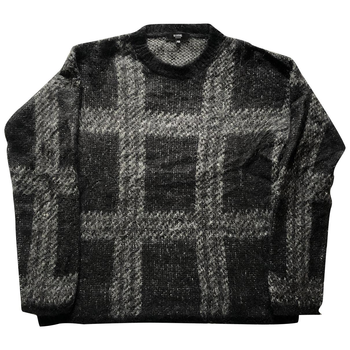 Versus \N Pullover.Westen.Sweatshirts  in  Schwarz Wolle