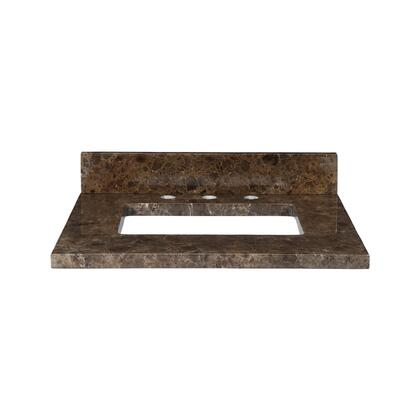 MAUT25RDE Stone Top - 25-inch for Rectangular Undermount Sink  in Dark Emperador